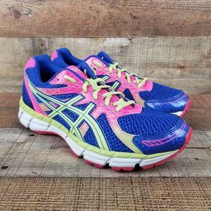 Asics Gel Excite 2 Blue Pink Yellow Running Shoes